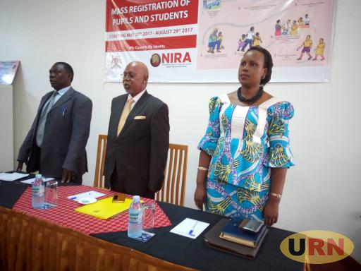Minister Jeje Odongo (Center) at the NIRA Stakeholder's Workshop Held At Mt. Elgon Hotel Mbale recently