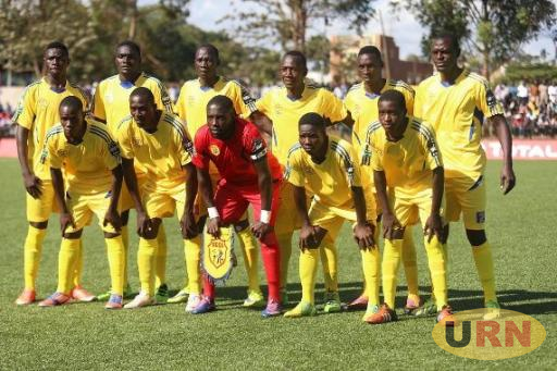 KCCA FC team before a game.