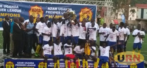 KCCA FC after winning the League title last season.