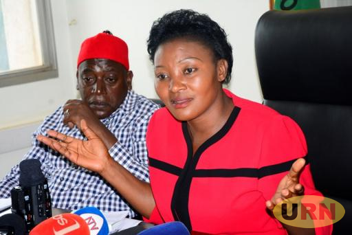 Leader of Opposition Winnie Kiiza.
