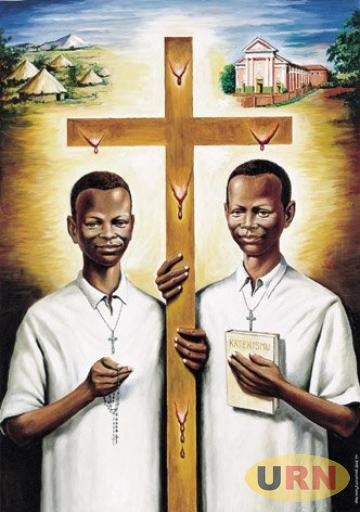 A Vatican depiction of Daudi Okelo, born in 1902 and Jildo Irwa, born in 1906 who were both martyred on October 18, 1918 in present day Agago district.