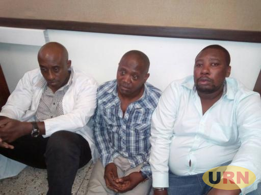 Some of the suspected gold fraudsters arrested from Physical Chemistry lab at Makerere University