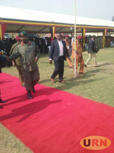 Museveni during the pass out of the Prison warders