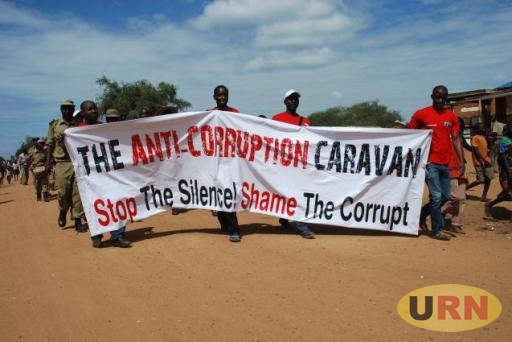 Anti corruption march in Kampala