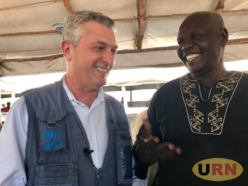 UNHCR Chaief Filippo Grandi shares a light moment with a South Sudan Refugee who is here as a refugee for the fourth time.