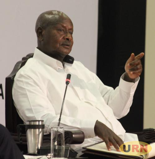 President Museveni said men who beat women are stupid, cowards and bullies.