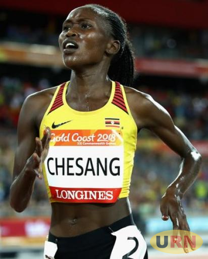 Stella Chesang during the 2018 Gold Coast Commonwealth Games.