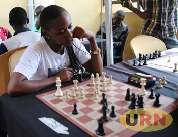 Kirabo during the Rapid Chess tournament at Liquid silk last month.