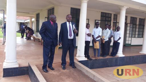The prime minster of Rwenzururu kingdom, Mr. Thembo Kistumbire arrives at Jinja high court.