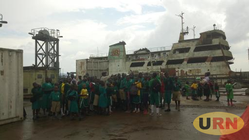 School children touring the dilapidated vessels at Port Bell, Luzira. The port and the vessels are yet to be renovated in order to handle major cargo via the recently reopened Central Polygon Route