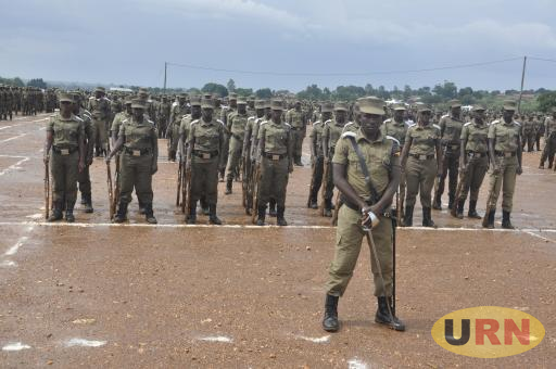 Some of the cadets during their pass out at Kabalaye Police Training School in September 2016