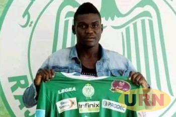 Shaban Muhammad after unveiling at his new Club Raja Casablanca.