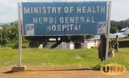 Nebbi district general hospital sign post.