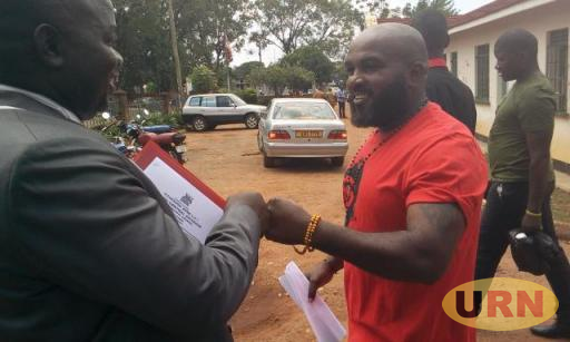 Eddy Mutwe, moments after he was released from prison