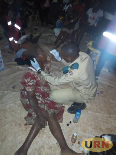 One of the victims of the stampede at Canaan Land being attended to by a Scout