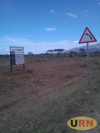 View of the land earmarked for cement factory in Moroto.