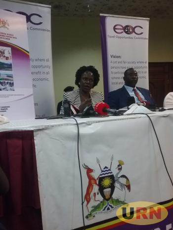 L-R; Sylvia Ntambi, Chaiperson  EOC and Patrobas Sirabo Wafula, a member of the Commission