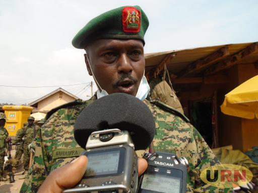 Lieutenant Colonel Robert Nahamya, the Commander of 19th Battalion in Kabale district