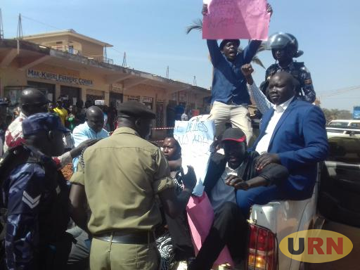 Acholi Members of Parliament Took To The Streets With Placards During The Monday Demonstration