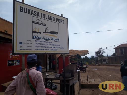 A sign post erected at Bukasa Town showing the proposed inland port project