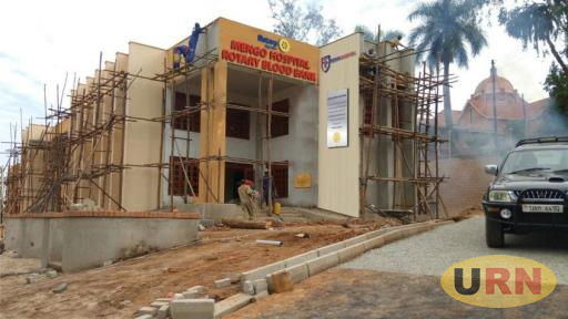 Rotary Blood Bank during its construction in 2017