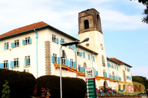 A picture taken on January 16, 2019 shows a general view of the Makerere University Main Building