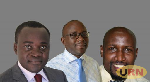 SUSPENDED MAK STAFF LEADERS: L-R; MUASA Chairperson Dr. Deus Kamunyu Muhwezi, MASA chairperson Bennet Magara and his Secretary Joseph Kalema