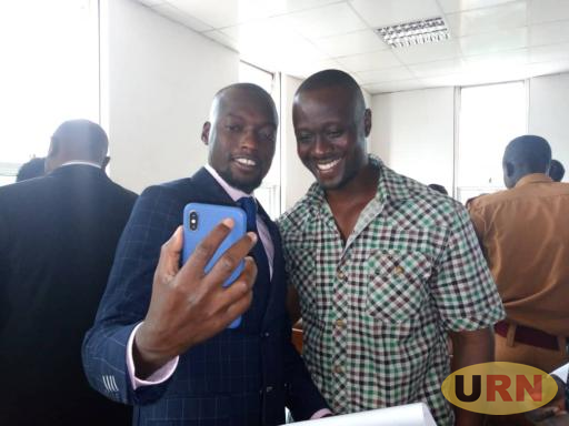 Lawyer Julius Galisonga  and his Client Ivan Kamyuka  at the Court of Appeal after being granted bail
